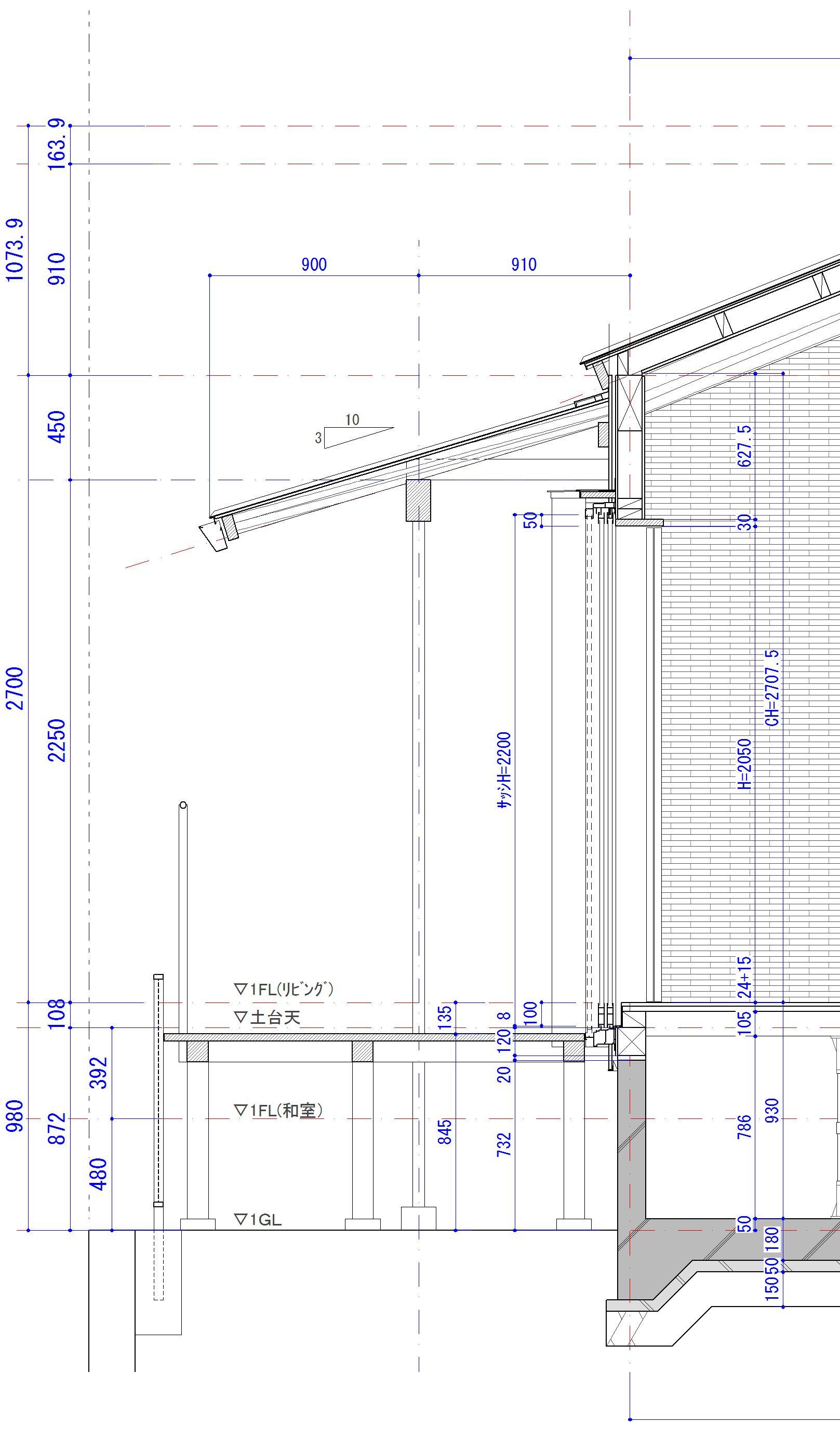 淡路島の家Ⅴ実施設計図